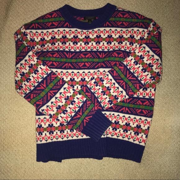 78% off J. Crew Sweaters - J. Crew Wool Colorful Fair isle Sweater ...